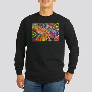Funky Retro Pattern Abstract Long Sleeve T-Shirt