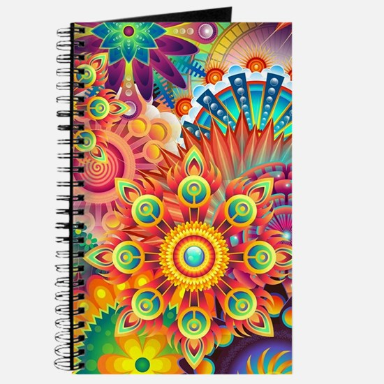 Funky Retro Pattern Abstract Journal