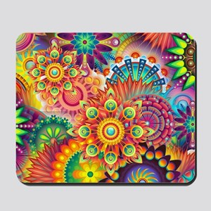 Funky Retro Pattern Abstract Mousepad