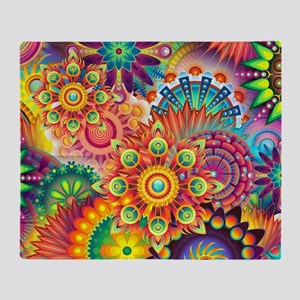 Funky Retro Pattern Abstract Throw Blanket