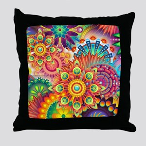 Funky Retro Pattern Abstract Throw Pillow