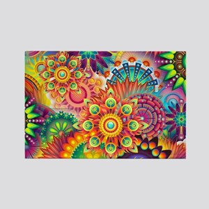Funky Retro Pattern Abstract Magnets