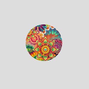 Funky Retro Pattern Abstract Mini Button