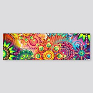 Funky Retro Pattern Abstract Bumper Sticker