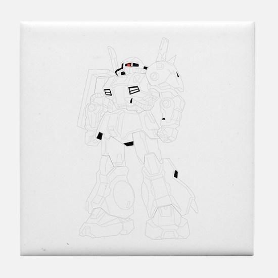 Robot cartoon Tile Coaster