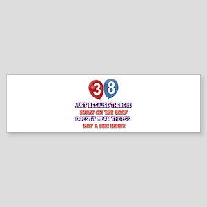 38 year old designs Sticker (Bumper)