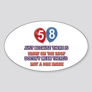 58 year old designs Sticker (Oval)