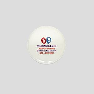 55 year old designs Mini Button