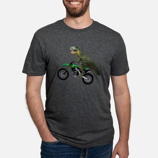 Dirt Bike Wheelie T Rex T-Shirt