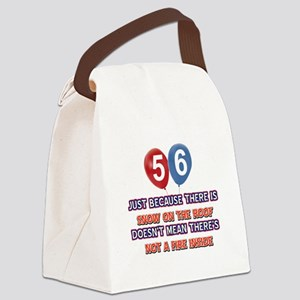 56 year old designs Canvas Lunch Bag