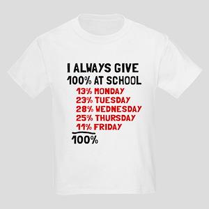 100% at school Kids Light T-Shirt