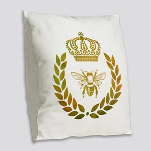 THE FRENCH BEE Burlap Throw Pillow