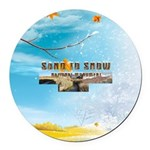 ABH Sand to Snow NM Round Car Magnet