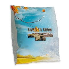 Abh Sand To Snow Nm Burlap Throw Pillow