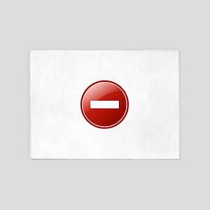 Delete icon 5'x7'Area Rug