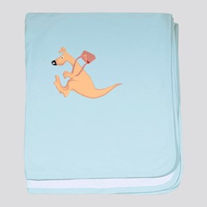 Kangaroo and Pouch baby blanket