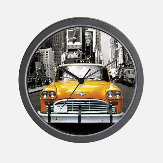 Cute Taxi cabs Wall Clock