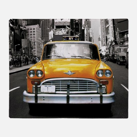 Cute Yellow cab Throw Blanket