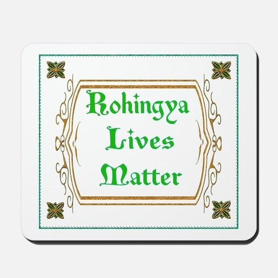 Rohingya Lives Matter-Green tee Mousepad