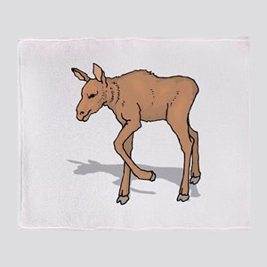 Moose Baby Throw Blanket