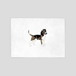 Staring beagle 5'x7'Area Rug