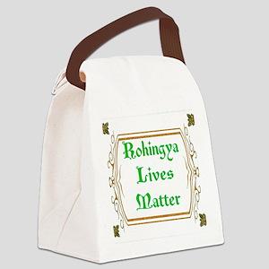 Rohingya Lives Matter-Green tee Canvas Lunch Bag
