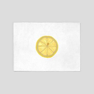 Lemon slice 5'x7'Area Rug