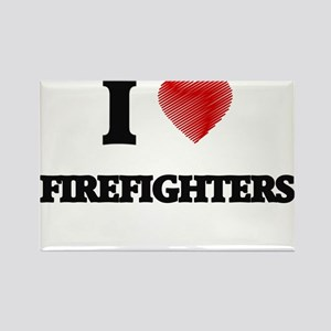 I love Firefighters Magnets