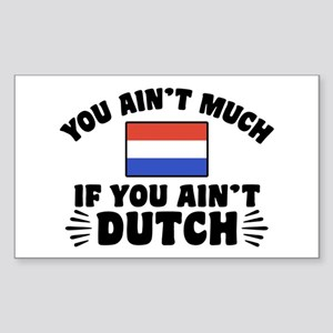 You Ain't Much If You Ain't Du Sticker (Rectangle)