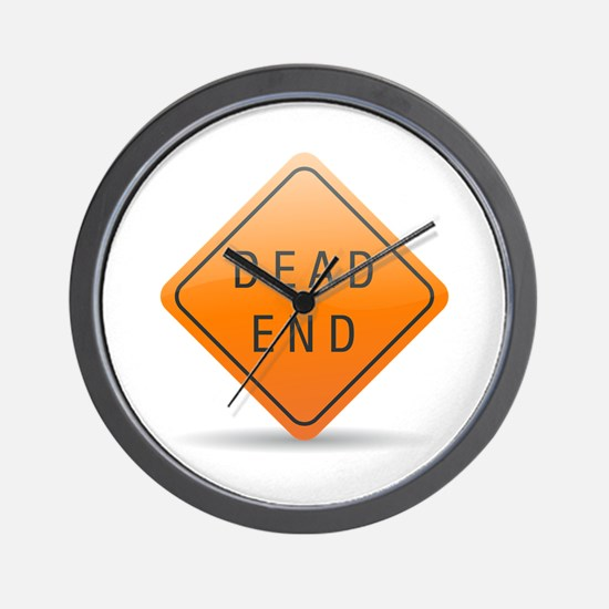 Dead end sign Wall Clock