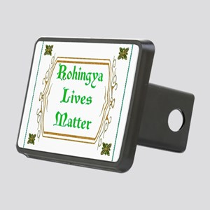 Rohingya Lives Matter-Gree Rectangular Hitch Cover