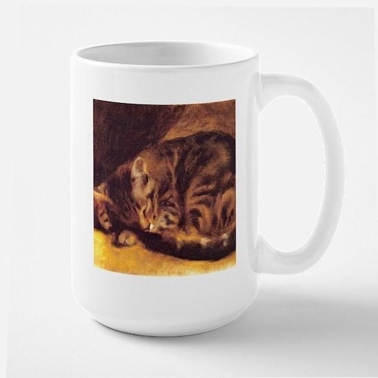 Renoir's Sleeping Cat Mugs