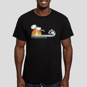 Catalina Island Califo Men's Fitted T-Shirt (dark)