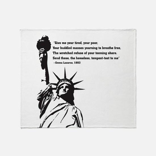 statue of Liberty.jpg Throw Blanket