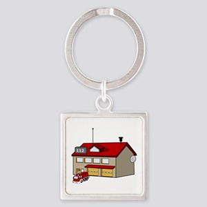 Fire Station Keychains