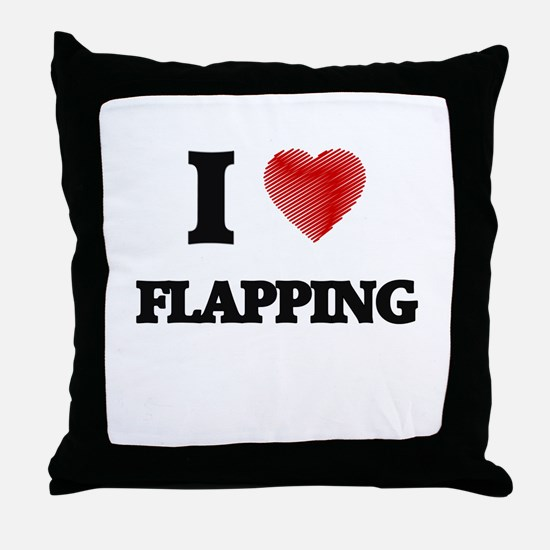 I love Flapping Throw Pillow