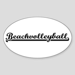 Beachvolleyball Sticker (Oval)