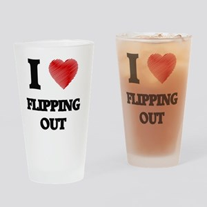 I love Flipping Out Drinking Glass