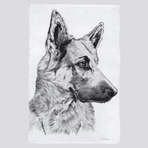German Shepherd 4' X 6' Rug