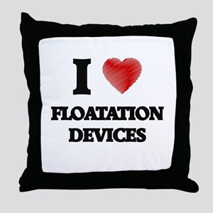 I love Floatation Devices Throw Pillow