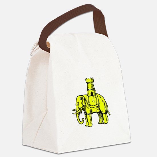 Elephant And Castle Canvas Lunch Bag
