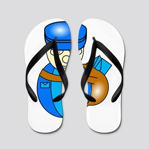 fe678078897f52 Postman Flip Flops - CafePress