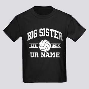 Personalized Big Sister Volleyball T-Shirt