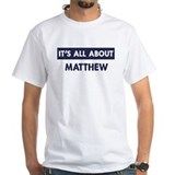 About matthew Mens Classic White T-Shirts