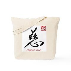 Kanji Compassion Tote Bag