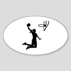 Basketball girl woman Sticker (Oval)