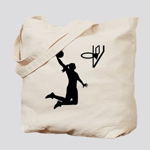 Basketball girl woman Tote Bag