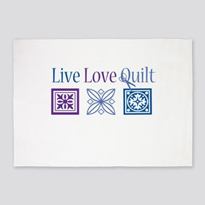 Live Love Quilt 5'x7'Area Rug