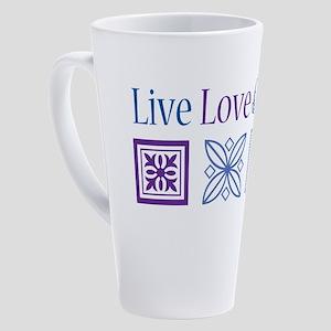 Live Love Quilt 17 oz Latte Mug