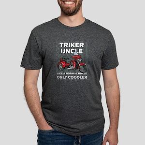 Motorcycle Triker Uncle Mens Tri-blend T-Shirt